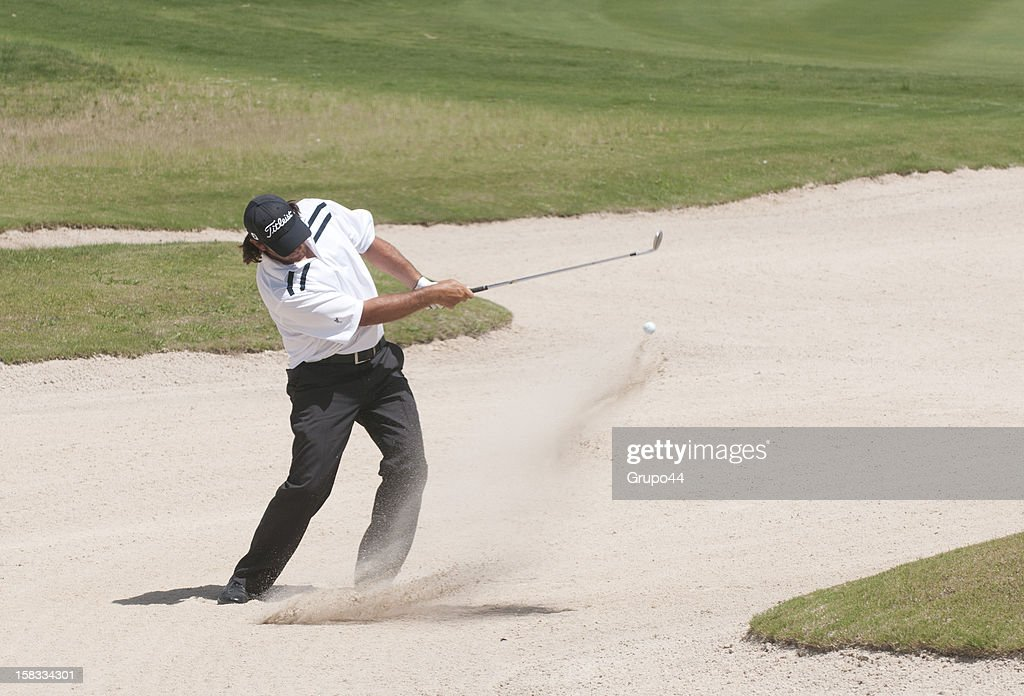 Angel Monguzzi of Argentina plays out of the bunker during the opening day of the 107 Visa Golf Open presented by Peugeot as part of the PGA Latin America at Nordelta Golf Club on December 13, 2012 in Buenos Aires, Argentina.