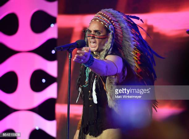 Angel Morales of Village People at the 2017 Streamy Awards at The Beverly Hilton Hotel on September 26 2017 in Beverly Hills California