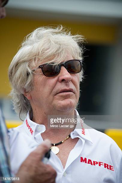 Angel Nieto of Spain on the grid during the preevent 'MotoGP riders celebrate Sachsenring's 85th Anniversary' during the MotoGp of Germany at...