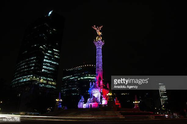 colors for monuments independence monument mexico city stock photos and pictures