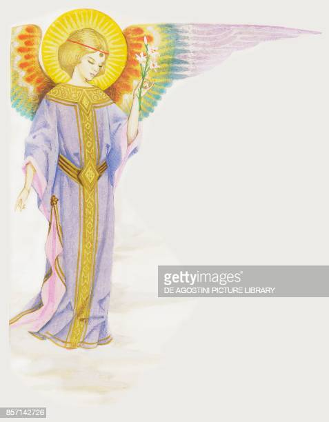 Angel of the Annunciation drawing