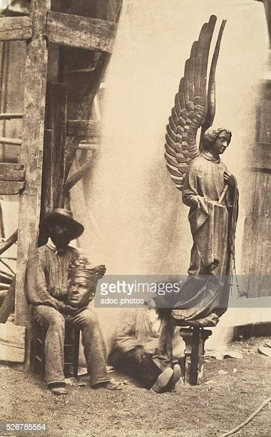 Angel of the Passion at the SainteChapelle in Paris Ca 1853