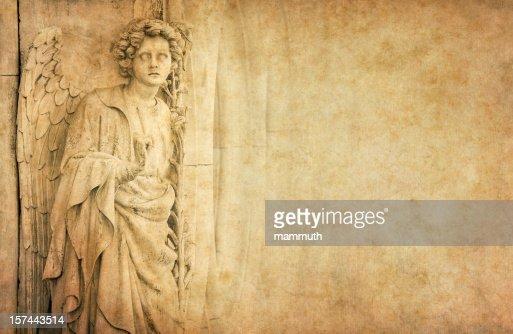 angel on old vintage paper