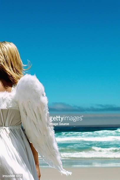 Angel on the beach