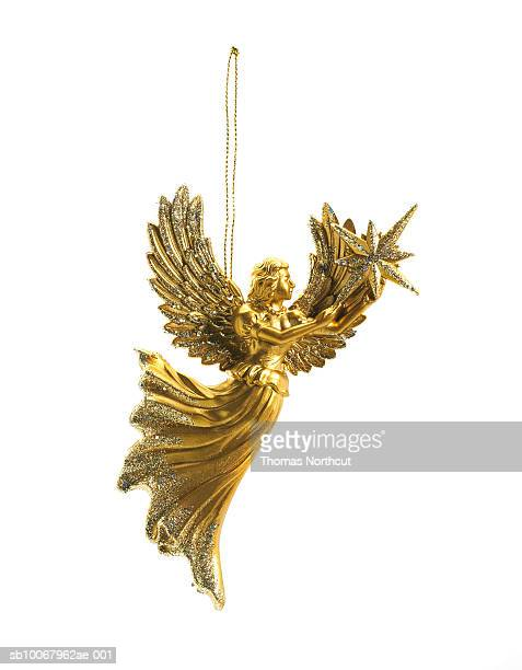 Angel ornament on white background