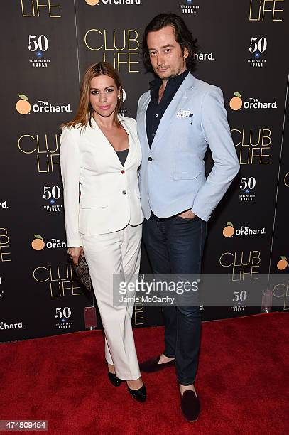 Angel Reed and actor Constantine Maroulis attend the New York premiere of 'Club Life' at Regal Cinemas Union Square on May 26 2015 in New York City