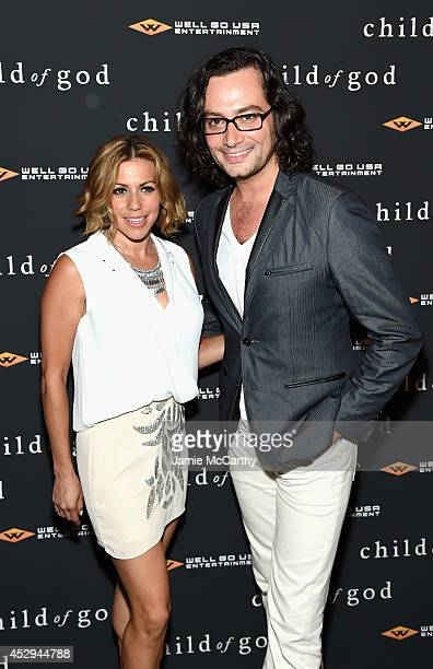 Angel Reed and Constantine Maroulis attends the 'Child Of God' premiere at Tribeca Grand Hotel on July 30 2014 in New York City