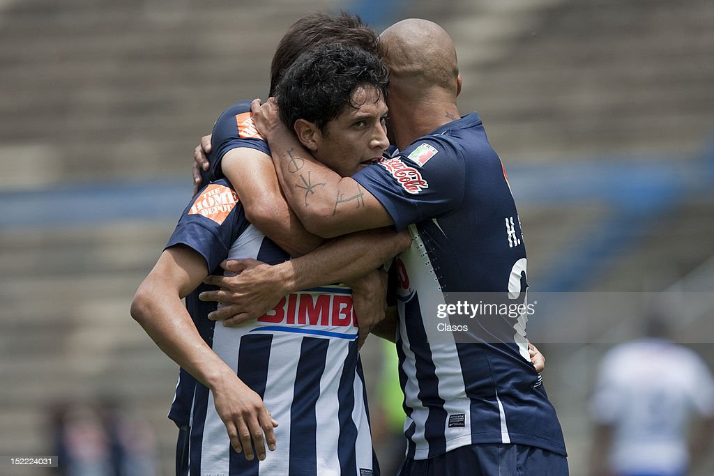 <a gi-track='captionPersonalityLinkClicked' href=/galleries/search?phrase=Angel+Reyna&family=editorial&specificpeople=630365 ng-click='$event.stopPropagation()'>Angel Reyna</a> of Monterrey celebrates a goal during the a match between Puebla and Monterrey as part of the Apertura 2012 championship at Cuauhtemoc Stadium on 16 September, 2012 in Puebla, Mexico.
