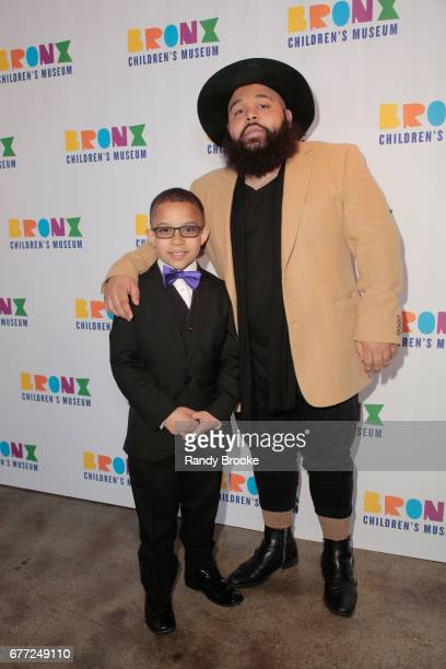 Angel Rodriguez and musician Luss Nigaglioni attend the 2017 The Bronx Children's Museum Gala at Tribeca Rooftop on May 2 2017 in New York City