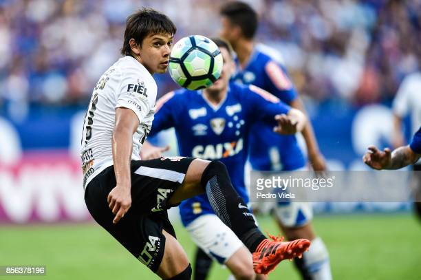 Angel Romero of Corinthians during a match between Cruzeiro and Corinthians as part of Brasileirao Series A 2017 at Mineirao stadium on October 1...