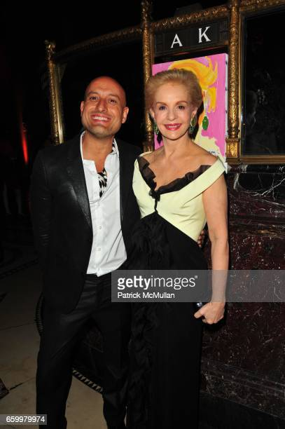 Angel Sanchez and Carolina Herrera attend El MUSEO Gala at Cipriani 42nd St on May 20 2009 in New York City