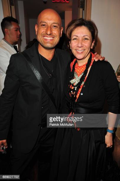 Angel Sanchez and Reem Acra attend EL MUSEO 2009 PreGala at Mauboussin NYC on April 27 2009