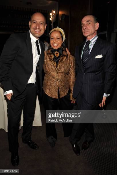 Angel Sanchez Naz and Robert Ruffino attend THE NEW YORK BOTANICAL GARDEN Orchid Dinner at Rainbow Room on February 24 2009 in New York