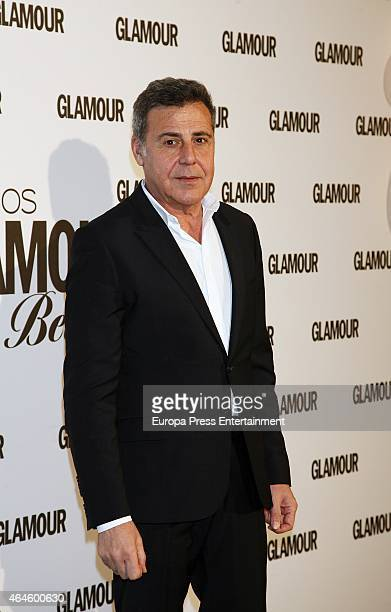 Angel Schlesser attends XIII Glamour Beauty Awards at Palace Hotel on February 26 2015 in Madrid Spain