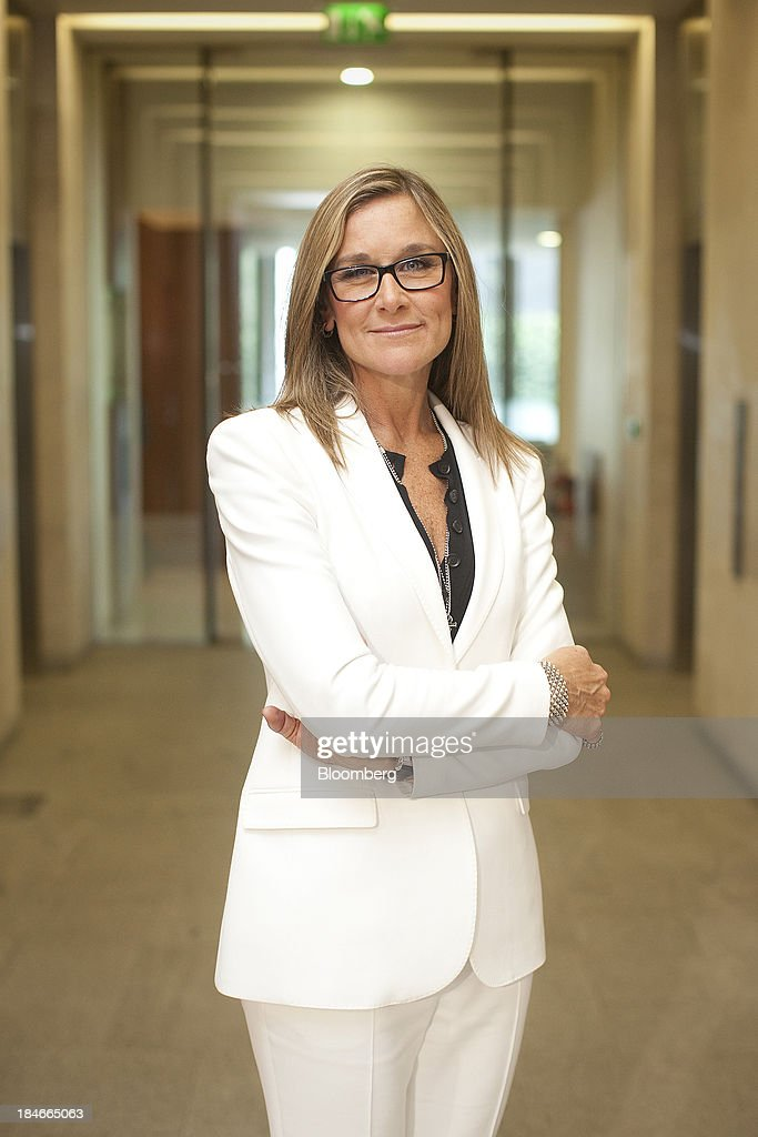 Angela Ahrendts, chief executive officer of Burberry Group Plc, poses for a photograph at the London Stock Exchange Group Plc's (LSE) headquarters following an event to celebrate Burberry's ten year listing anniversary in London, U.K., on Thursday, July 19, 2012. Burberry Group said Christopher Bailey will become chief executive officer of the largest British luxury-goods producer, as CEO Angela Ahrendts departs the company to work at Apple Inc. Photographer: Simon Dawson/Bloomberg via Getty Images