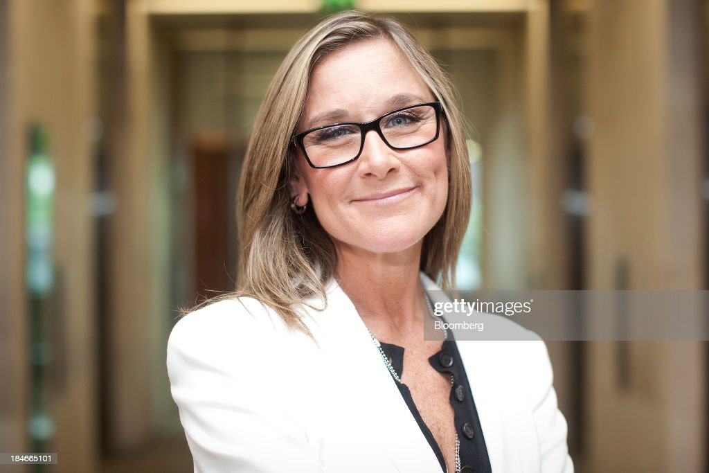 <a gi-track='captionPersonalityLinkClicked' href=/galleries/search?phrase=Angela+Ahrendts&family=editorial&specificpeople=4475423 ng-click='$event.stopPropagation()'>Angela Ahrendts</a>, chief executive officer of Burberry Group Plc, poses for a photograph at the London Stock Exchange Group Plc's (LSE) headquarters following an event to celebrate Burberry's ten year listing anniversary in London, U.K., on Thursday, July 19, 2012. Burberry Group said Christopher Bailey will become chief executive officer of the largest British luxury-goods producer, as CEO <a gi-track='captionPersonalityLinkClicked' href=/galleries/search?phrase=Angela+Ahrendts&family=editorial&specificpeople=4475423 ng-click='$event.stopPropagation()'>Angela Ahrendts</a> departs the company to work at Apple Inc. Photographer: Simon Dawson/Bloomberg via Getty Images