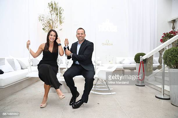Angela Akins and Sergio Garcia attend the The Omega Golf Ball at OMEGA House Rio 2016 on August 8 2016 in Rio de Janeiro Brazil