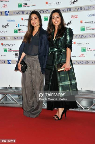 Angela and Marianna Fontana attend the nominees presentation of Nastri D'Argento at Maxxi Museum on June 6 2017 in Rome Italy