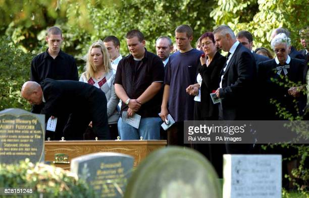 Angela and Phil Read at the funeral for their son Lewis at St George Church Woodsetts near Rotherham South Yorkshire Tuesday September 27 2005...