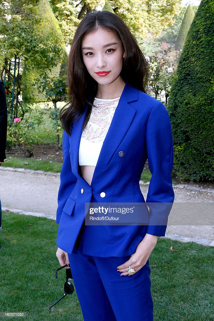 Angela Baby arriving at the Christian Dior show as part of the Paris Fashion Week Womenswear Spring/Summer 2014, held at Musee Rodin on September 27, 2013 in Paris, France.