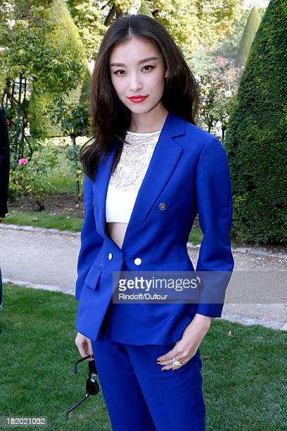 Angela Baby arriving at the Christian Dior show as part of the Paris Fashion Week Womenswear Spring/Summer 2014 held at Musee Rodin on September 27...