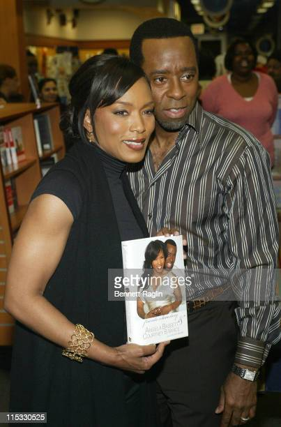 Angela Bassett and Courtney B Vance during Angela Bassett and Courtney B Vance Read from Their Book 'Friends A Love Story' at HueMan Bookstore in New...