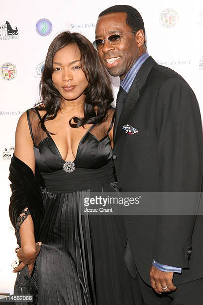 Angela Bassett and Courtney B Vance during Griffith Observatory ReOpening Galactic Gala at Griffith Observatory in Los Angeles CA United States