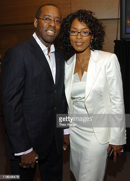 Angela Bassett and husband during Conde Nast Traveler 17th Annual Readers Choice Awards Green Room in New York City New York United States