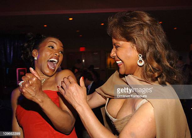 Angela Bassett and Phylicia Rashad during 59th Annual Tony Awards After Party at Marriott Marquis in New York City New York United States