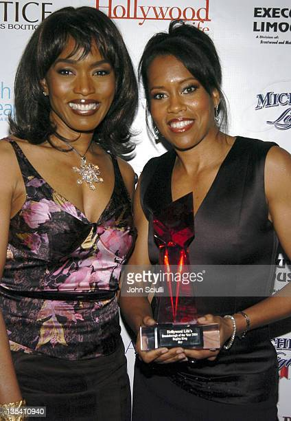 Angela Bassett and Regina King during Hollywood Life's 4th Annual Breakthrough of the Year Awards Audience and Backstage at Henry Ford Music Box...