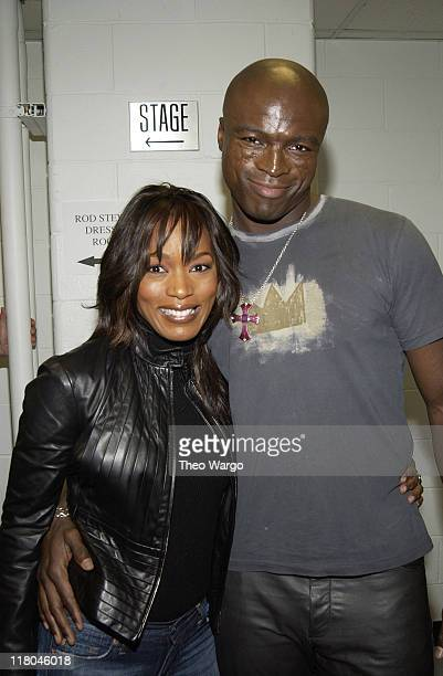 Angela Bassett and Seal during 1067 Lite FM 'One Night With Lite' Backstage at Madison Square Garden Theatre in New York City New York United States