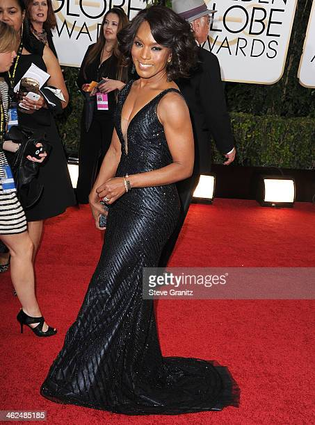 Angela Bassett arrives at the 71st Annual Golden Globe Awards at The Beverly Hilton Hotel on January 12 2014 in Beverly Hills California