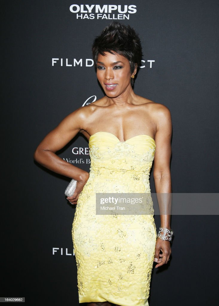 Angela Bassett arrives at the Los Angeles premiere of 'Olympus Has Fallen' held at ArcLight Cinemas Cinerama Dome on March 18, 2013 in Hollywood, California.