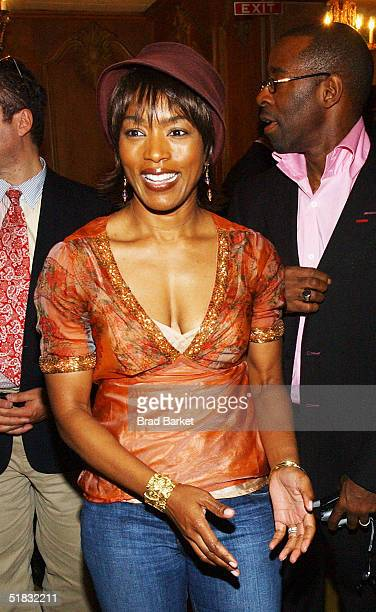 Angela Bassett arrives at the opening of 'The Gem of the Ocean' after party at Barbetta on December 6 2004 in New York