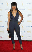 Angela Bassett arrives at the Television Academy Performers Nominee Reception for The 66th Emmy Awards held at Spectra by Wolfgang Puck at the...