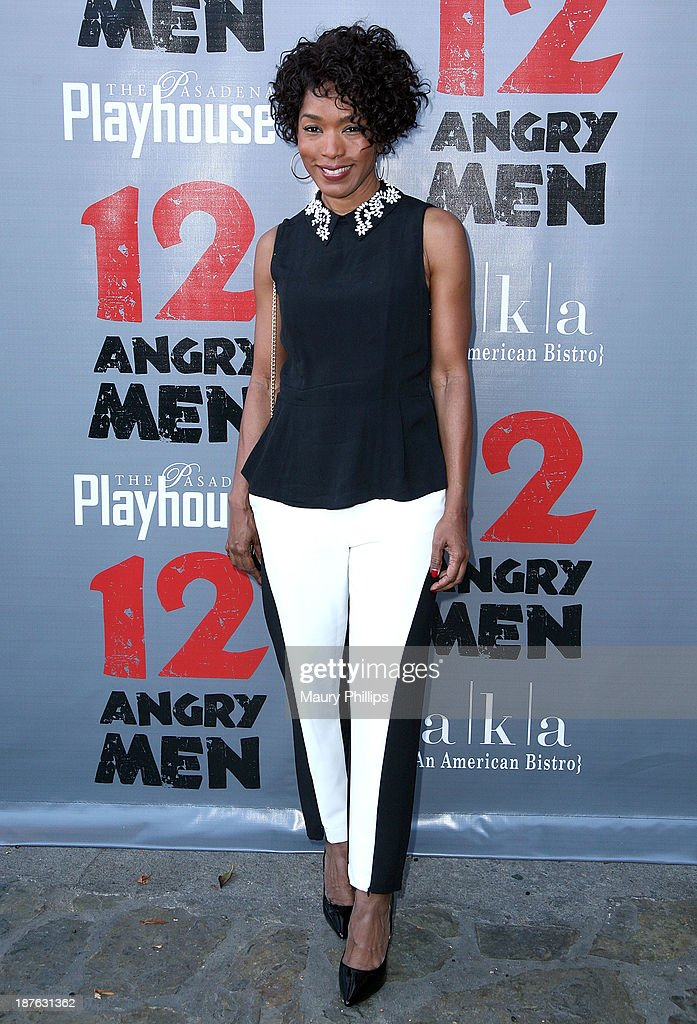 Angela Bassett attends '12 Angry Men' at the Pasadena Playhouse on November 10, 2013 in Pasadena, California.