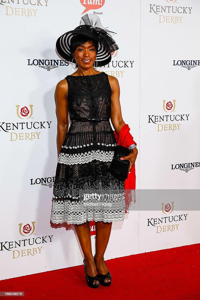 Angela Bassett attends 139th Kentucky Derby at Churchill Downs on May 4, 2013 in Louisville, Kentucky.