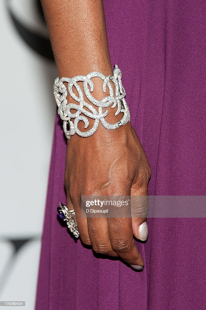 Angela Bassett (bracelet/ring detail) attends the 67th Annual Tony Awards at Radio City Music Hall on June 9, 2013 in New York City.
