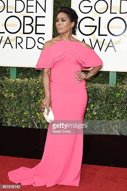 Angela Bassett attends the 74th Annual Golden Globe Awards Arrivals at The Beverly Hilton Hotel on January 8 2017 in Beverly Hills California