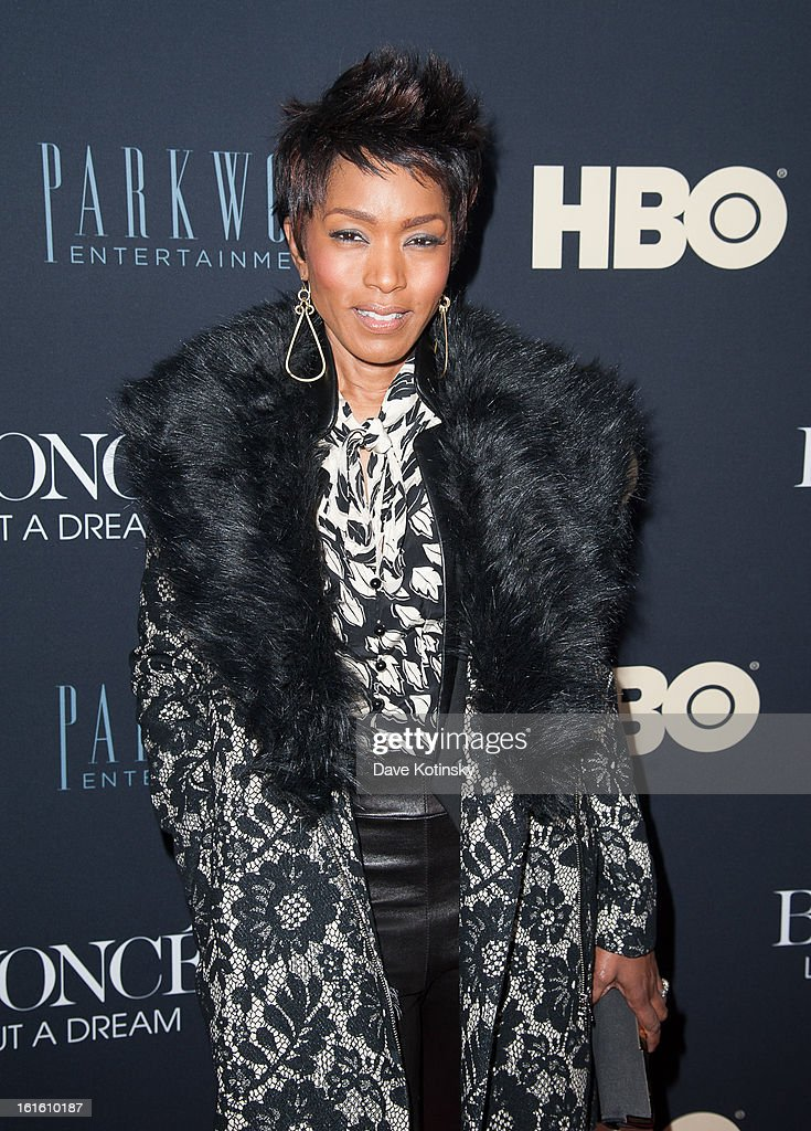 Angela Bassett attends the 'Beyonce: Life Is But A Dream' New York Premiere at Ziegfeld Theater on February 12, 2013 in New York City.
