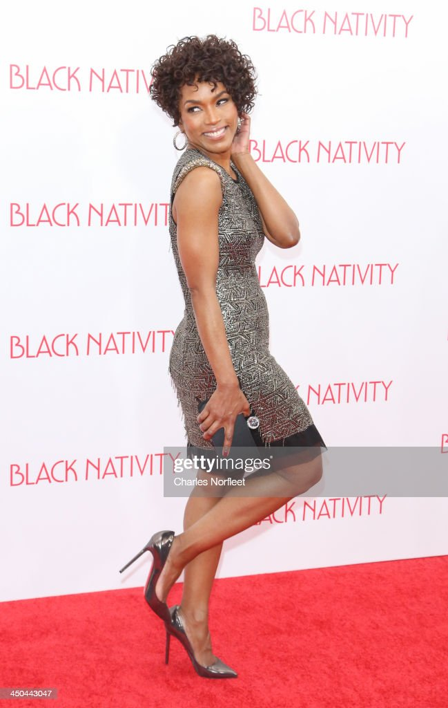 Angela Bassett attends the'Black Nativity' premiere at The Apollo Theater on November 18 2013 in New York City
