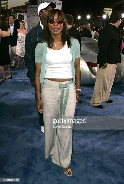 Angela Bassett during Access Hollywood Stage at the World Premiere of 'I ROBOT' at Mann Village Theater in Westwood California United States