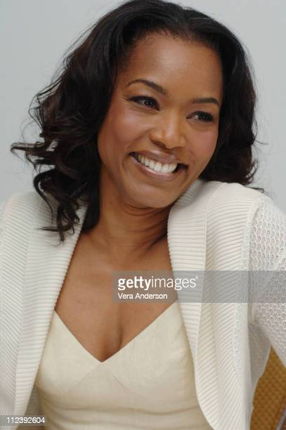 Angela Bassett during 'Akeelah and the Bee' Press Conference with Angela Bassett and Lawrence Fishburne at Four Seasons Hotel in Beverly Hills...