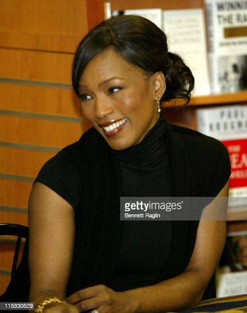 Angela Bassett during Angela Bassett and Courtney B Vance Read from Their Book 'Friends A Love Story' at HueMan Bookstore in New York City March 1...