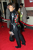 Angela Bassett during 'Julius Caesar' on Broadway Arrivals April 3 2005 at The Belasco Theater in New York City New York United States