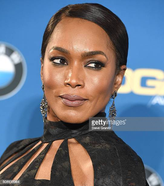 Angela Bassett poses at the 68th Annual Directors Guild Of America Awards at the Hyatt Regency Century Plaza on February 6 2016 in Los Angeles...