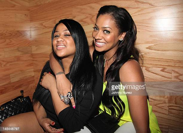 Angela Beyince and La La Anthony attend Greenhouse Tuesdays at Greenhouse on May 29 2012 in New York City