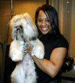 Angela Beyince and Munch at the SoHo Grand Hotel in New York New York