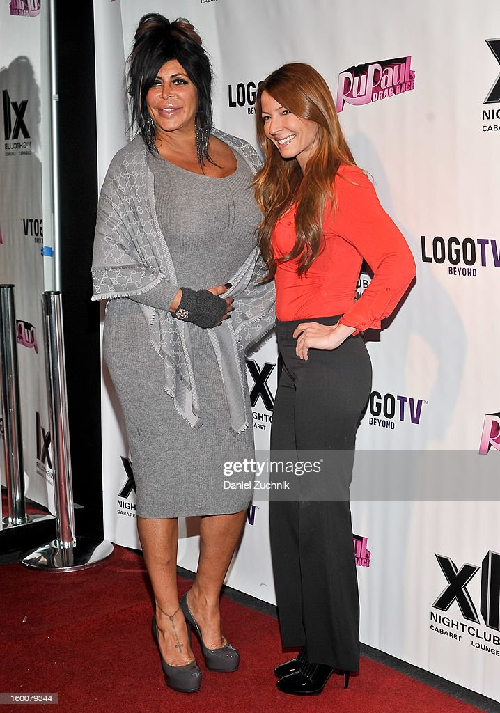 Angela '<a gi-track='captionPersonalityLinkClicked' href=/galleries/search?phrase=Big+Ang&family=editorial&specificpeople=8749866 ng-click='$event.stopPropagation()'>Big Ang</a>' Raiola and Drita Davanzo attend the 'RuPaul's Drag Race' season 5 party at XL Nightclub on January 25, 2013 in New York City.