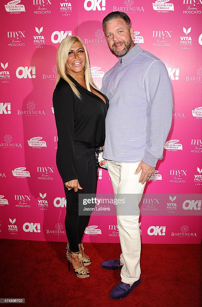 Angela 'Big Ang' Raiola and husband Neil Murphy attend OK Magazine's So Sexy event at SkyBar at the Mondrian Los Angeles on May 21 2015 in West...